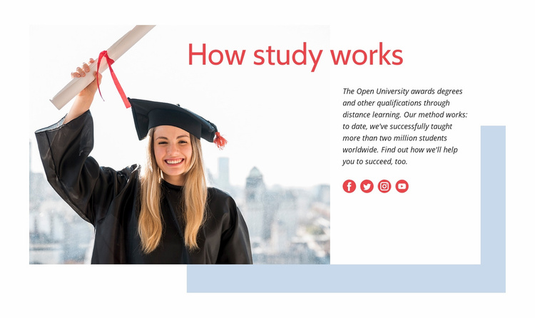 How Study Works Website Template