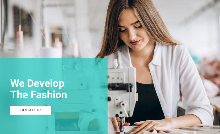 Develop fashion brands Website Template