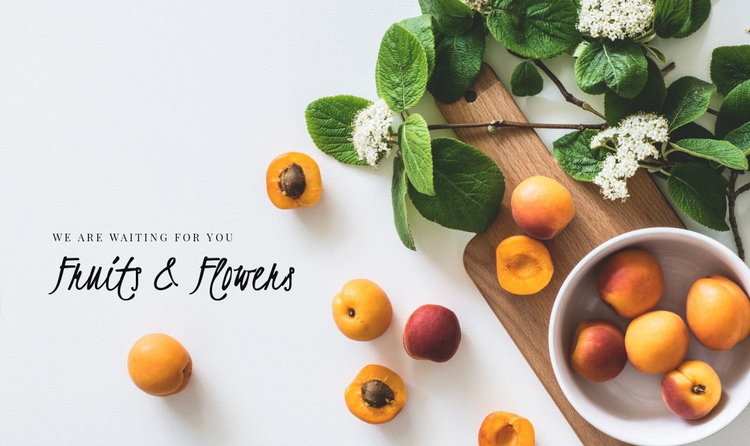 Fruits and Flowers Website Builder Software