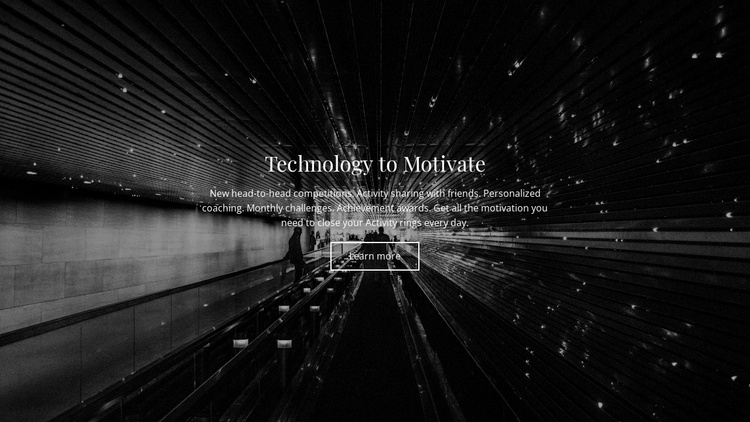 Technology Motivate Landing Page
