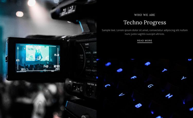 Techno progress Website Mockup