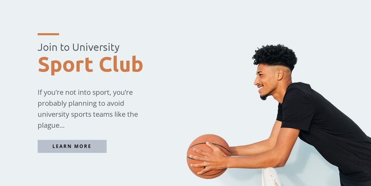 Sport university center Website Template