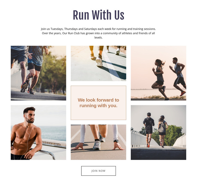 Run With Us HTML Template
