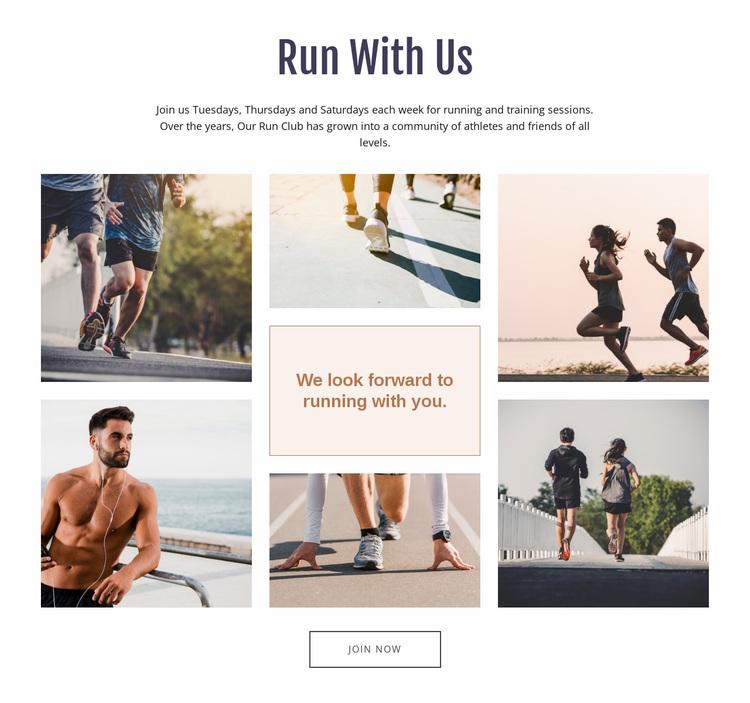 Run With Us Website Design