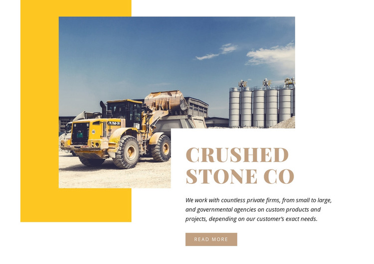 Crushed Stone Homepage Design