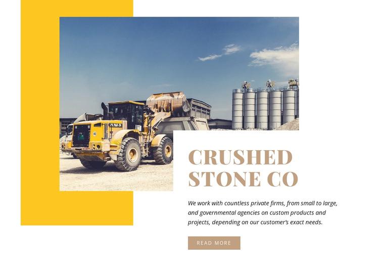 Crushed Stone Joomla Page Builder