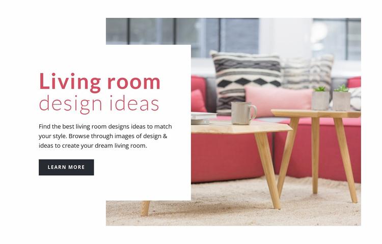 Decorating living room Website Template