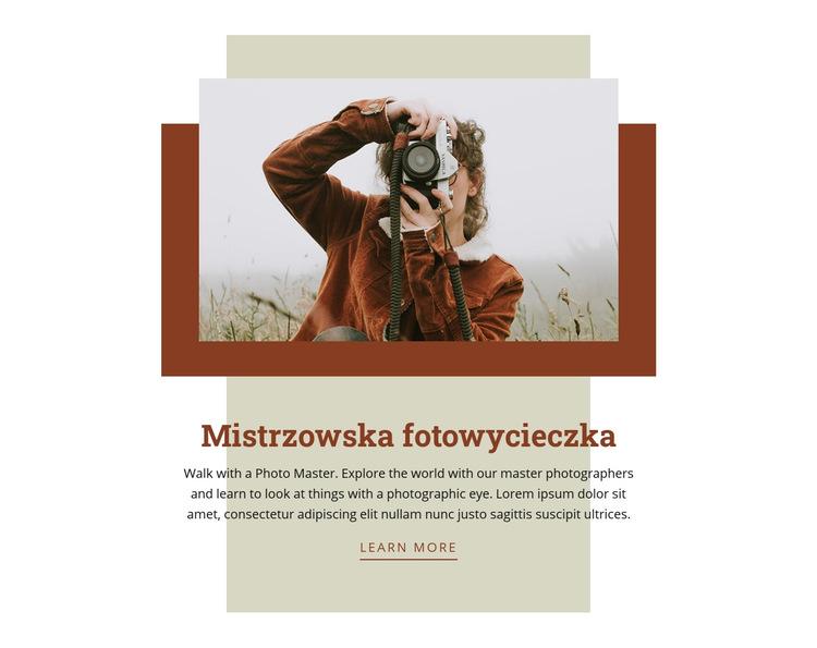 Mistrzowska fotowycieczka Szablon witryny sieci Web