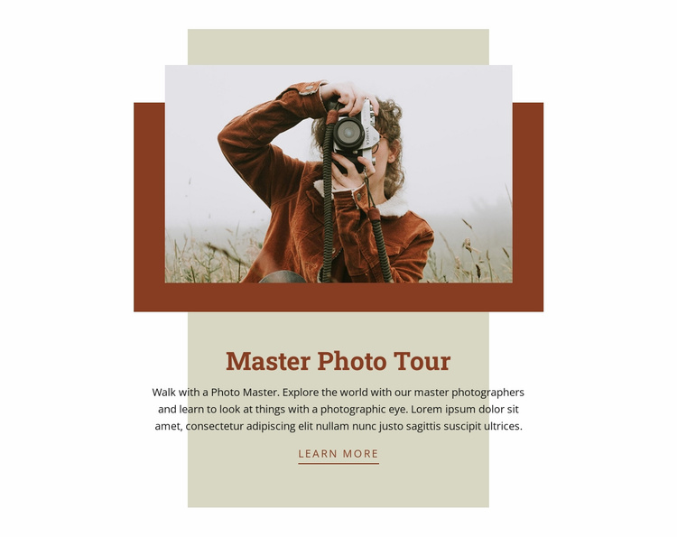Master Photo Tour Website Template
