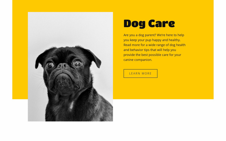 Everyone loves dogs Website Template