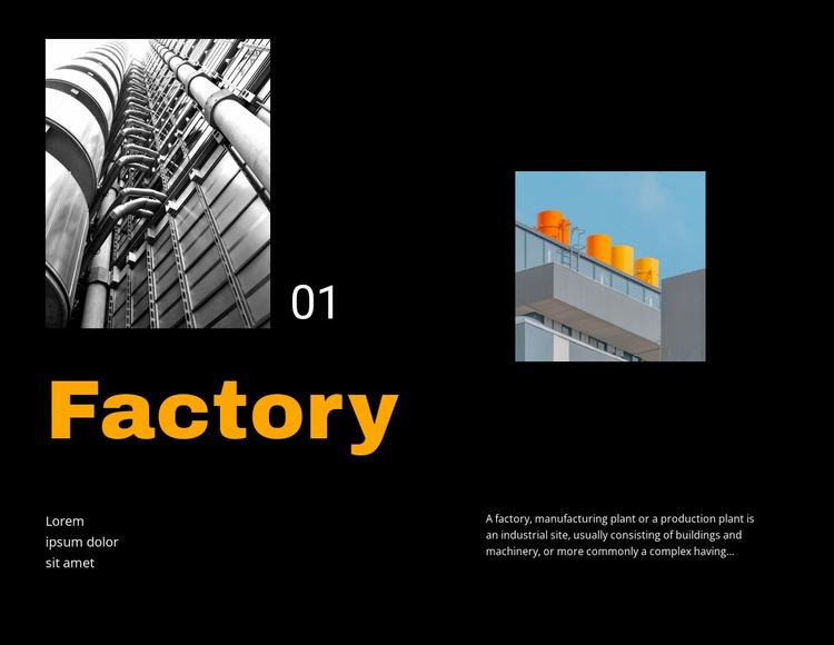 Factory Website Template