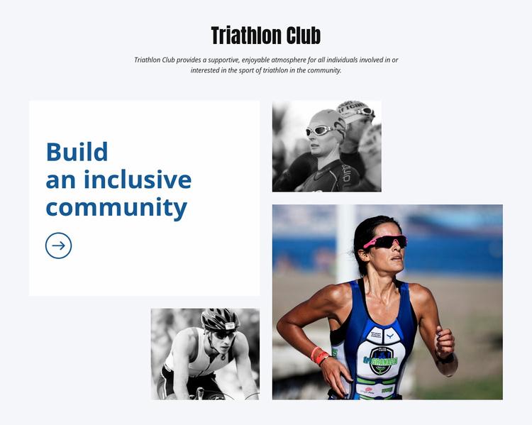 Triathion Club Website Template