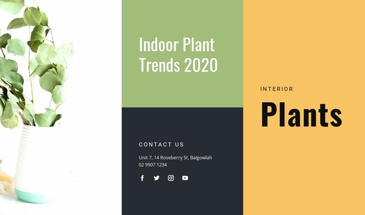 Indoor Plant Trends Website Template