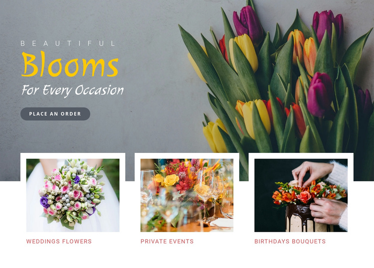 Blooms occasion beautiful Joomla Page Builder