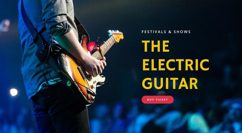 Electric guitar festivals Web Page Designer