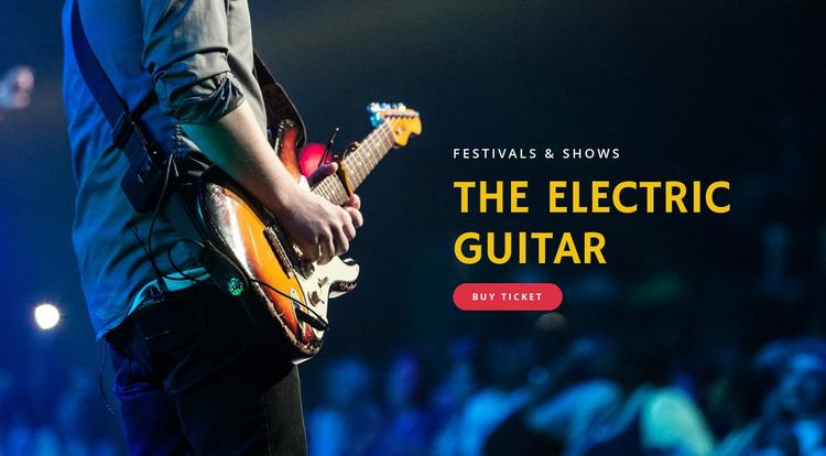 Electric guitar festivals Website Mockup