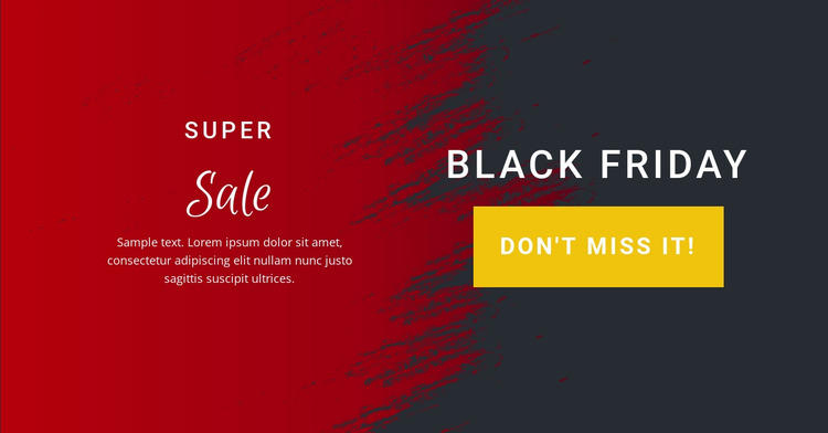 Sale from tomorrow Html Website Builder
