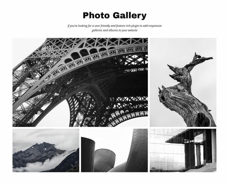 Photo Gallery Website Template