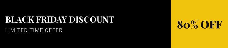 Black friday discount Html Website Builder