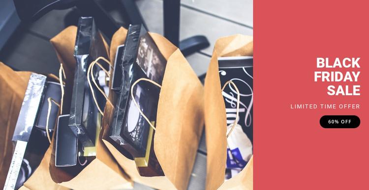 Black friday fashion sale Website Template