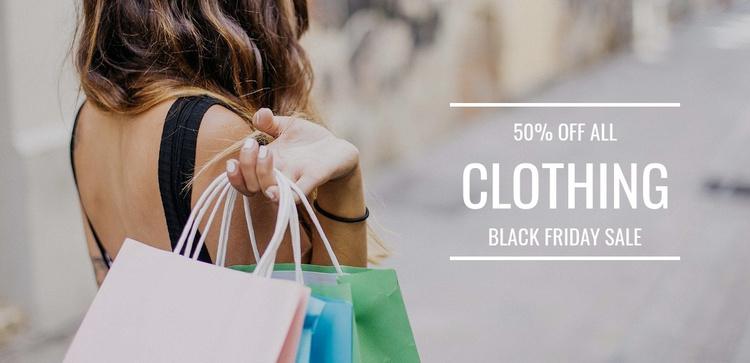 Closing sale Joomla Template