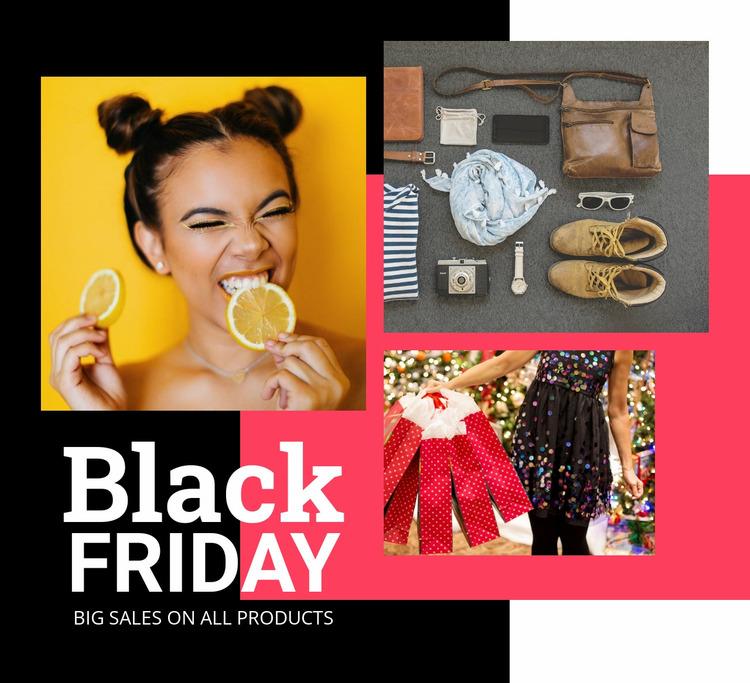 Black friday sale with images Website Mockup