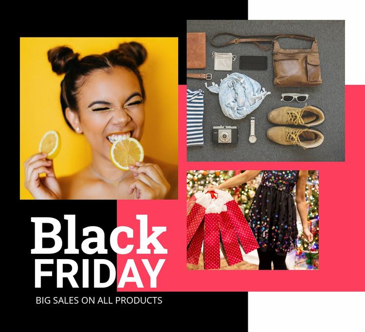 Black friday sale with images WordPress Website Builder