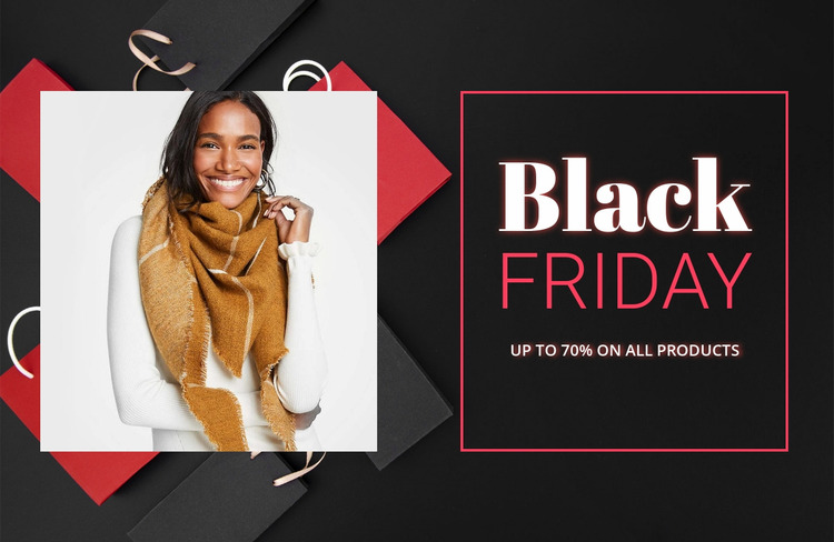 Black friday Html Website Builder