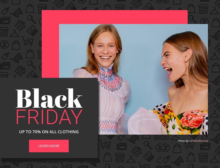 Black friday deals Html Website Builder