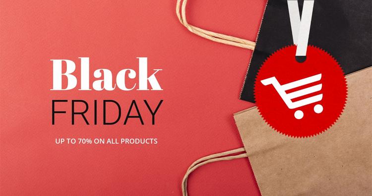 Best black friday deals Website Template