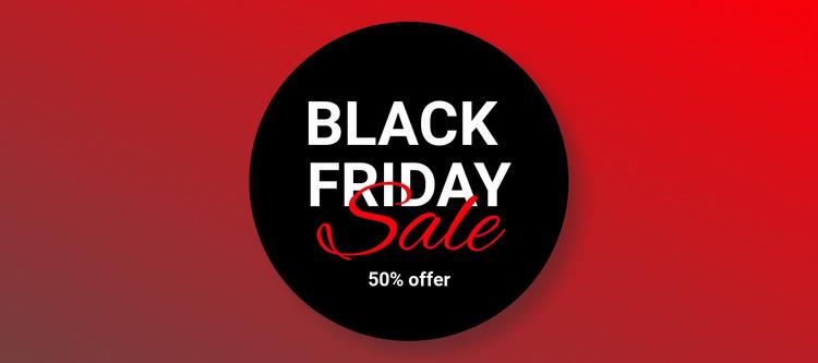 Black friday clothing sale Html Website Builder