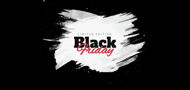 Black friday sale banner Html Website Builder