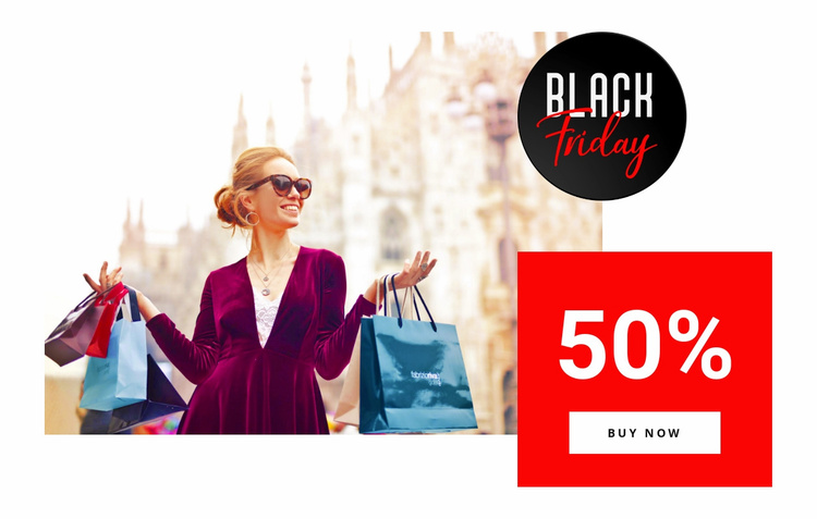 Shop up to 50% off Website Template