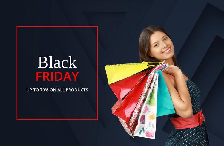 Fantastic black friday deals Website Template