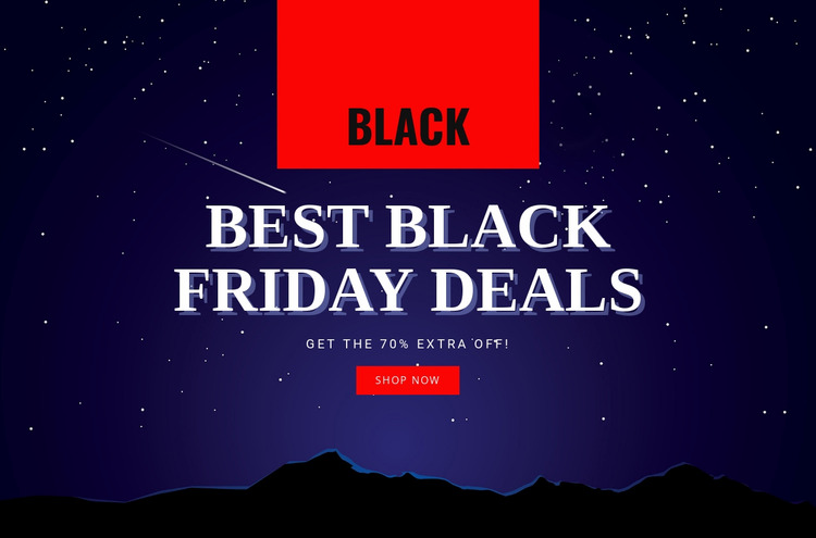 Deals and sales online Html Website Builder