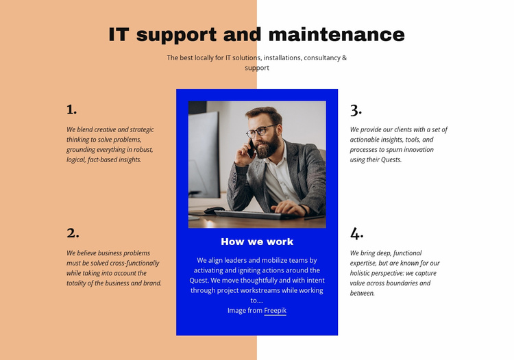It support Website Template