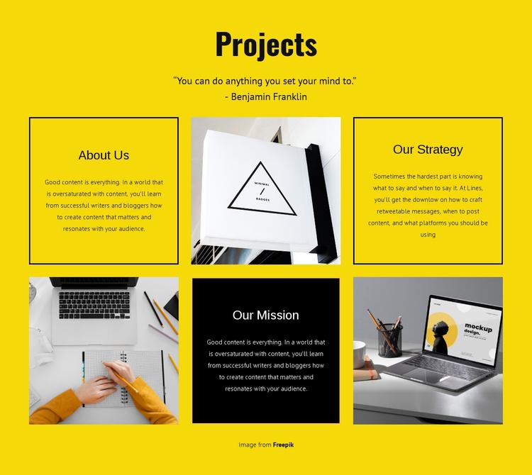 Design studio projects Website Template
