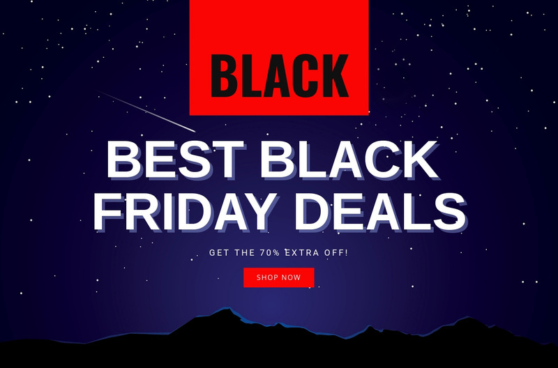 Black Friday Sale Wix Template Alternative