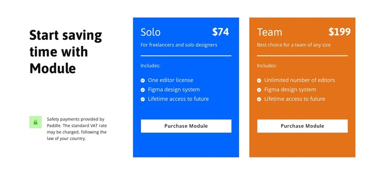 Start saving time CSS Template