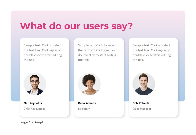 What our users say Web Page Designer