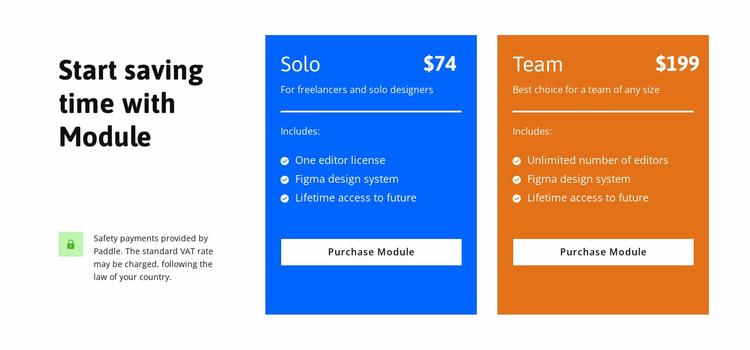 Start saving time Website Template