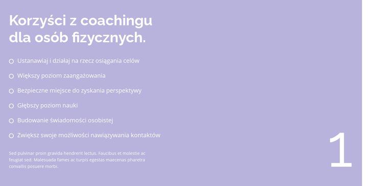 Duża lista Szablon witryny sieci Web
