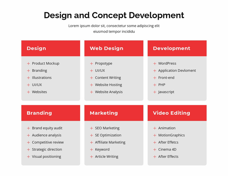 Branding and web design Landing Page