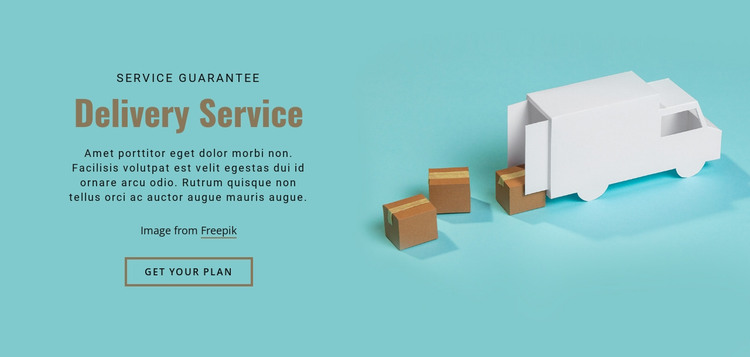 Our delivery services HTML Template