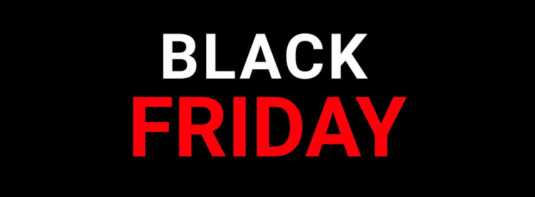 Black friday technology sale Html Website Builder