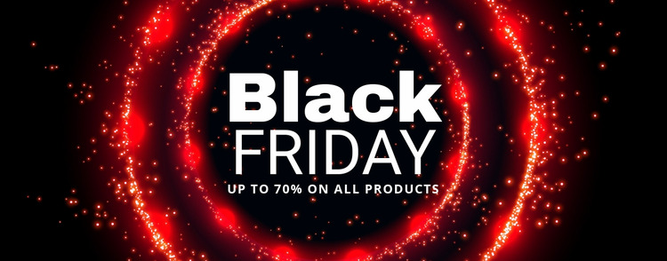 Black Friday prices on tech Html Website Builder
