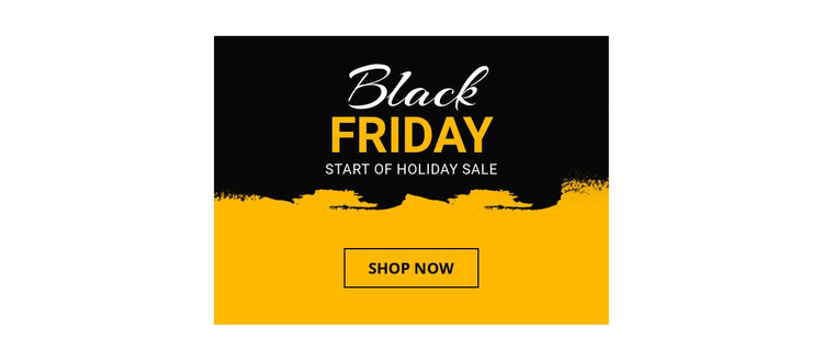 Black Friday Sale Web Design