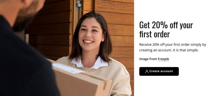 Your first order Web Page Designer