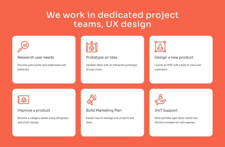 UX design specialization CSS Template