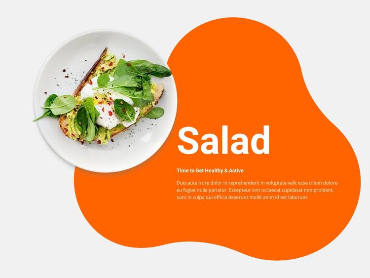 Spring salad HTML Template